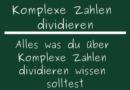 Komplexe Zahlen dividieren