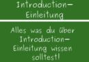 Introduction – Einleitung