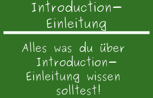 Introduction Wie Wird Sie Geschrieben Was Ist Wichtig