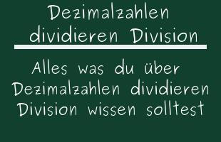 Dezimalzahlen dividieren Division