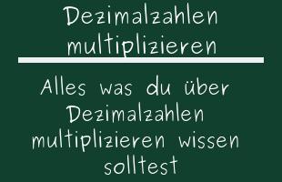 Dezimalzahlen multiplizieren