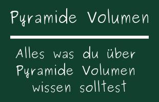 Pyramide Volumen