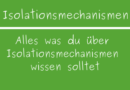 Isolationsmechanismen