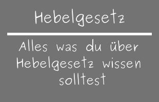 Hebelgesetz
