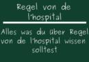 Regel von de l'hospital