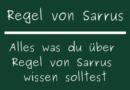 Regel von Sarrus