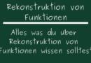 Rekonstruktion von Funktionen