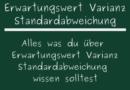 Erwartungswert Varianz Standardabweichung