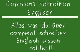 Comment schreiben Englisch