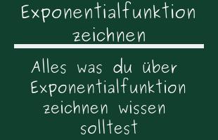 Exponentialfunktion zeichnen