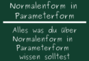 Normalenform in Parameterform