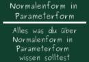 Normalenform in Parameterform