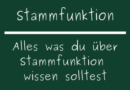 Stammfunktion