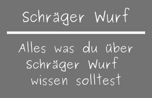 Schräger Wurf