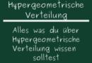 Hypergeometrische Verteilung