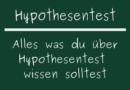 Hypothesentest