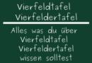 Vierfeldtafel Vierfeldertafel