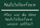 Nullstellenform