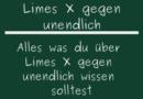 Limes X gegen unendlich