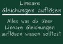 Lineare Gleichungen auflösen