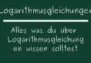 Logarithmusgleichungen