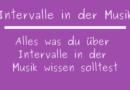 Intervalle in der Musik