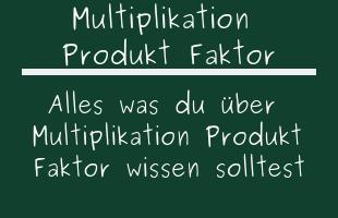 Multiplikation Produkt Faktor