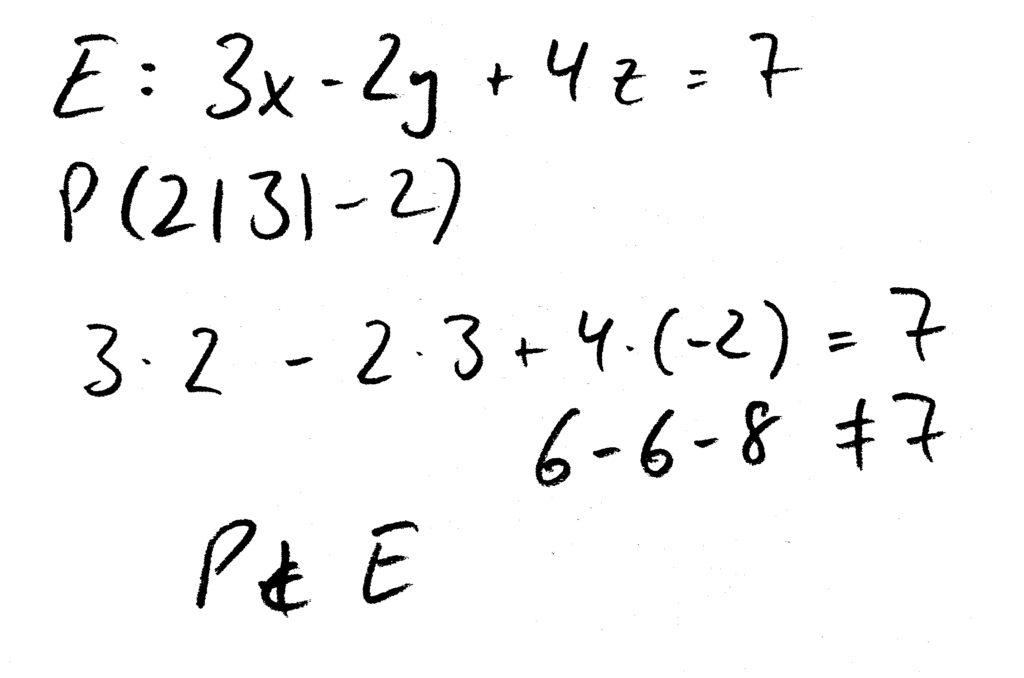 Lagebeziehung_Ebene_Punkt_Koordinatenform_P_nicht_Element