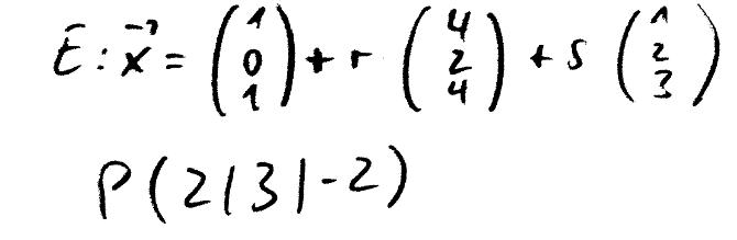 gegenseitige_Lage_Ebene_Parameterform_Punkt